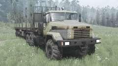 KrAZ 6322 dark-grey-yellow v2.0 for MudRunner
