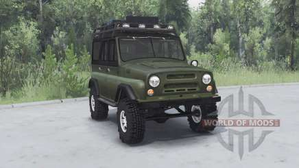 UAZ 469 khaki v1.1 for Spin Tires