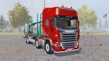 Scania R730 V8 Topline 8x8 Timber Truck for Farming Simulator 2013