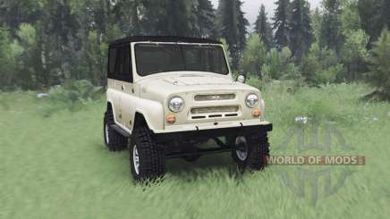 UAZ 469 beige v1.2 for Spin Tires