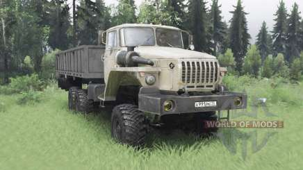 Ural 4320-1912-40 grey-yellow v1.2 for Spin Tires