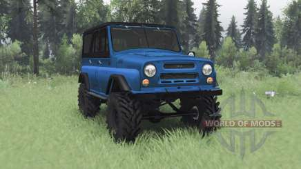 UAZ 469 blue v1.1 for Spin Tires