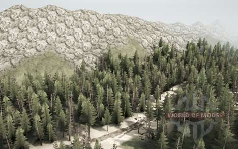 Mountain river for Spintires MudRunner