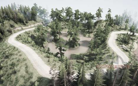 Wooded nature for Spintires MudRunner