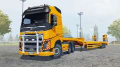 Volvo FH16 600 Globetrotter special transport for Farming Simulator 2013