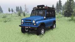 UAZ 469 blue v1.2 for Spin Tires