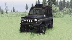 UAZ 469 black v1.2 for Spin Tires