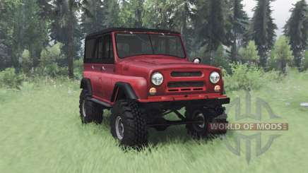 UAZ 469 red v1.2 for Spin Tires