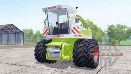 Claas Jaguar 880 dual front wheels for Farming Simulator 2017