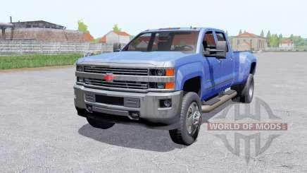 Chevrolet Silverado 3500 HD Crew Caɓ for Farming Simulator 2017