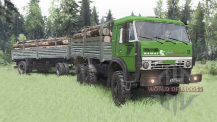 KamAZ 5350 green for Spin Tires