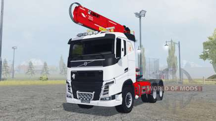 Volvo FH16 750 Sleeper cab timber loader for Farming Simulator 2013