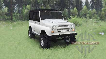 UAZ 469 white v1.2 for Spin Tires