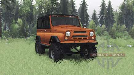 UAZ 469 orange v1.2 for Spin Tires