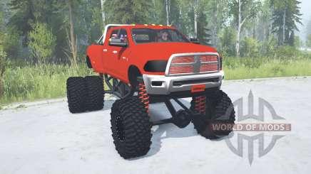 Dodge Ram 3500 Heavy Duty lifted for MudRunner