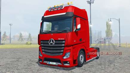 Mercedes-Benz Actros (MP4) flashing light beacon for Farming Simulator 2013