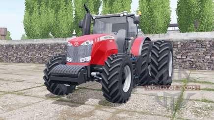 Massey Ferguson 8690 dual rear wheels for Farming Simulator 2017