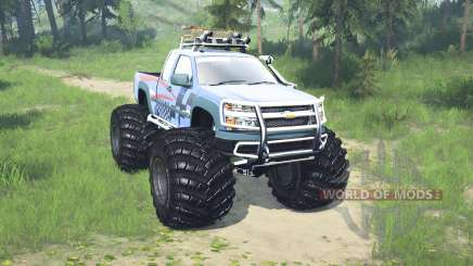 Chevrolet Colorado Extended Cab monster truck for MudRunner