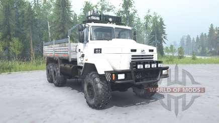 KrAZ 6322 white color for MudRunner