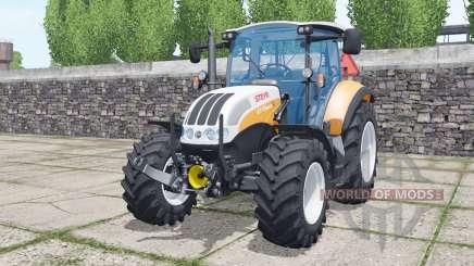 Steyr 4115 Multi 2013 soft orange for Farming Simulator 2017